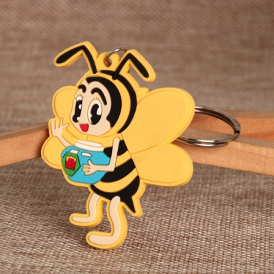 Porte-clés en PVC Honey Bee